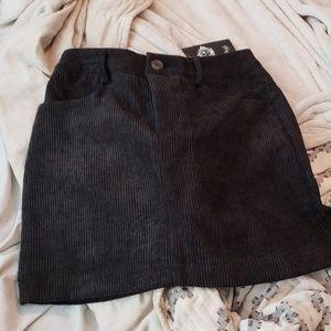 NWT Black Corduroy Skirt